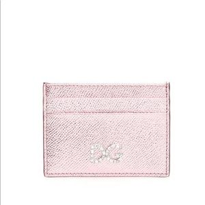 Dolce and gabbana metallic crystal card holder
